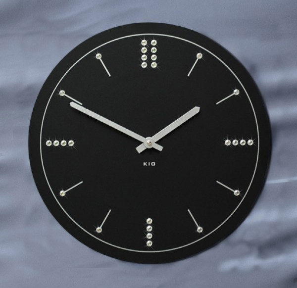 kio times design hausnummer edelstahl wanduhr funkuhr. Black Bedroom Furniture Sets. Home Design Ideas