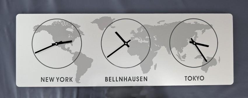 Kio times design hausnummer klingel hausklingel edelstahl - Wanduhr zeitzonen ...