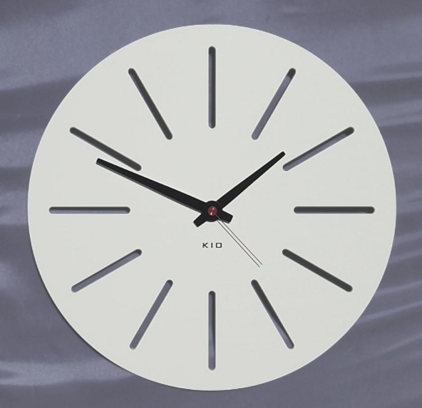 Kio times design hausnummer edelstahl wanduhr funkuhr for Wanduhr modern edelstahl