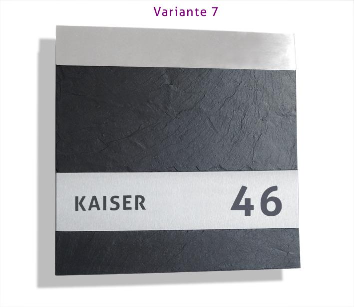 Design Briefkasten Postkasten Edelstahl Schiefer Schutzlackiert Save-Post 7