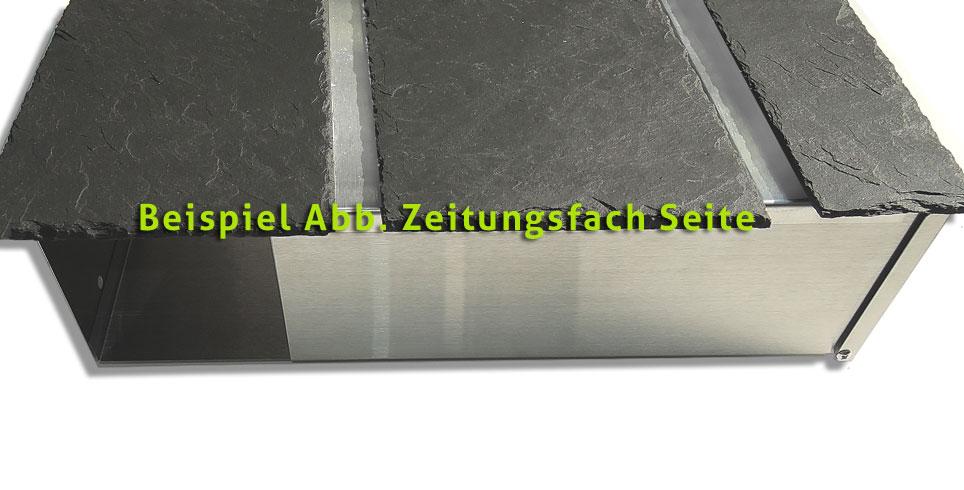 Bauhaus Design Briefkasten Edelstahl Schiefer KIO TIMES