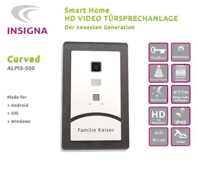 Test,Video,Sprechanlage,,Wlan,Smart Home, Edelstahl, Fitzbox, HD, Acryl