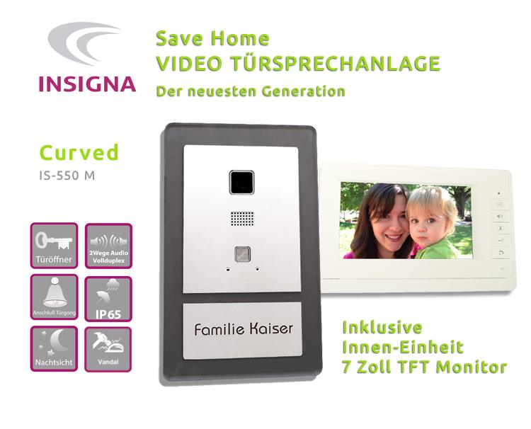 Insigna,Video,Sprechanlage,Tueranlage,Monitor,2-Draht, Edelstahl, HD, mit TFT, LCD DISPLAY