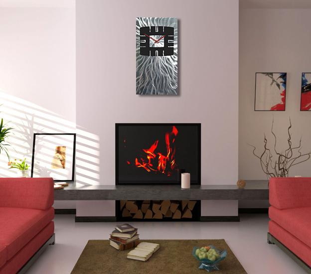 Stardust Wave 3D Effekt LUXUS modern Lautlos Wanduhr