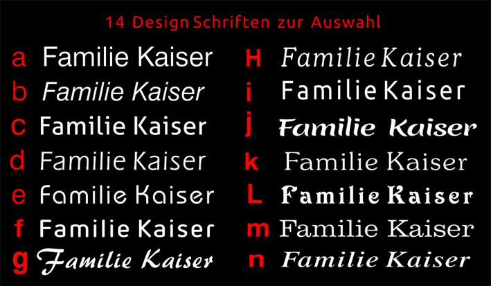 KIO TIMES 14 Design-Schriten, Klingel-Beschriftung, Hausnummer-Schriften, Beschriftung-Sprechanlage