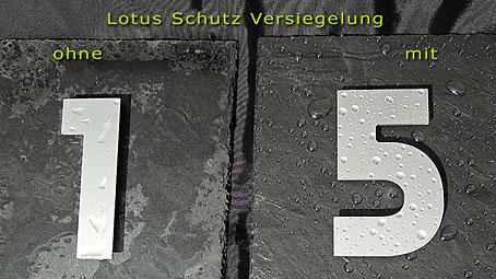 V2A Design Klingel, Hausnummer, Lotus Versiegelung