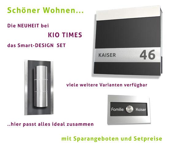 Design HAUSNUMMER, SET,  Edelstahl, Acryl, Ral, 7016, Silber, Grau