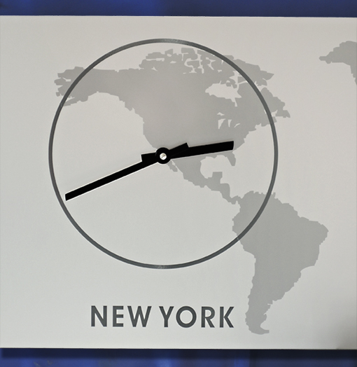 Weltzeit WandUhr, Zeitzonen Uhr, Lautlos, DESIGN