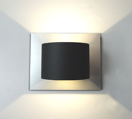 Design LED Edelstahl UP&Down Strahler 2 Schiefer KIO TIMES