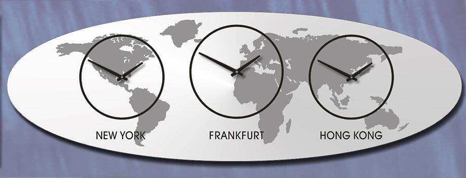 Weltzeit ,Zeitzonen, Uhr, Wanduhr, DESIGN,mehrere Zeitzonen,