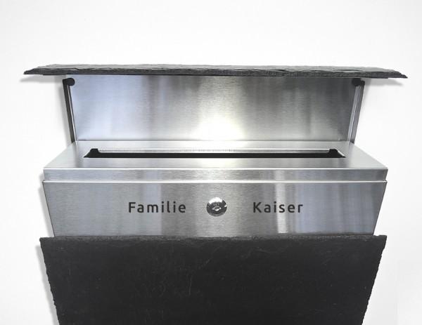 KIO TIMES Design Hausnummer Hausklingel Briefkasten Edelstahl ...