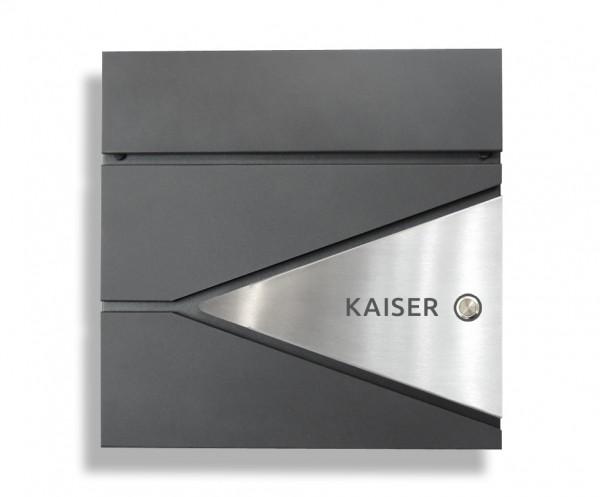 DUOS Klingel 2 Hochwertiger Design Briefkasten mit TÜR-KLINGEL  Anthrazit-Edelstahl