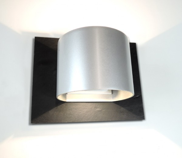 MONTANA  Silber  Up & Down LED Design Wandleuchte Strahler