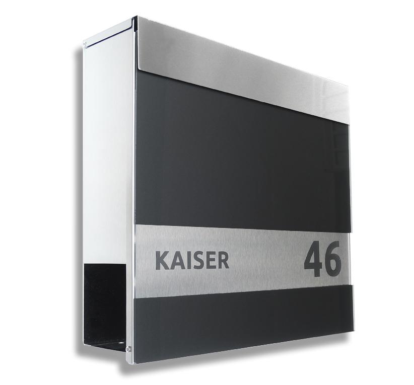 30 SMART DESIGN SET - Hochwertiger Edelstahl Briefkasten und 3D ...