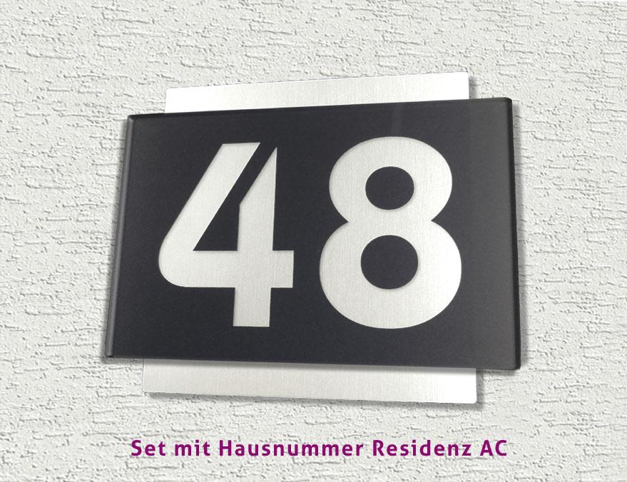 30 SMART DESIGN SET - Hochwertiger Edelstahl Briefkasten und ...