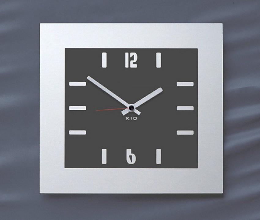 kio times design hausnummer hausklingel briefkasten edelstahl ... - Wanduhren Modern