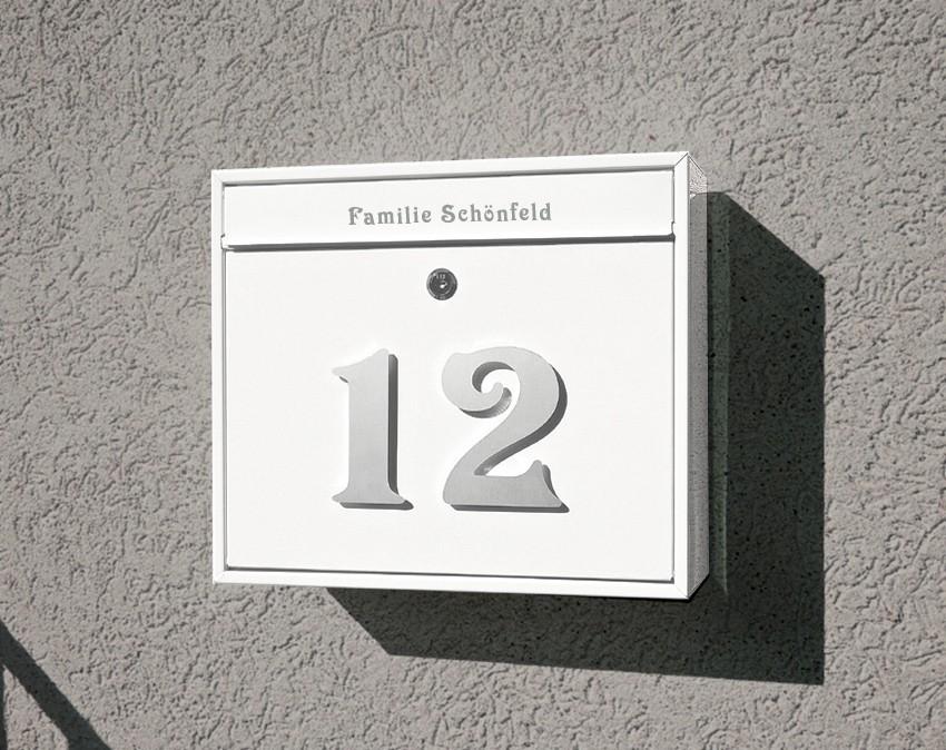 kio times design hausnummer hausklingel briefkasten. Black Bedroom Furniture Sets. Home Design Ideas